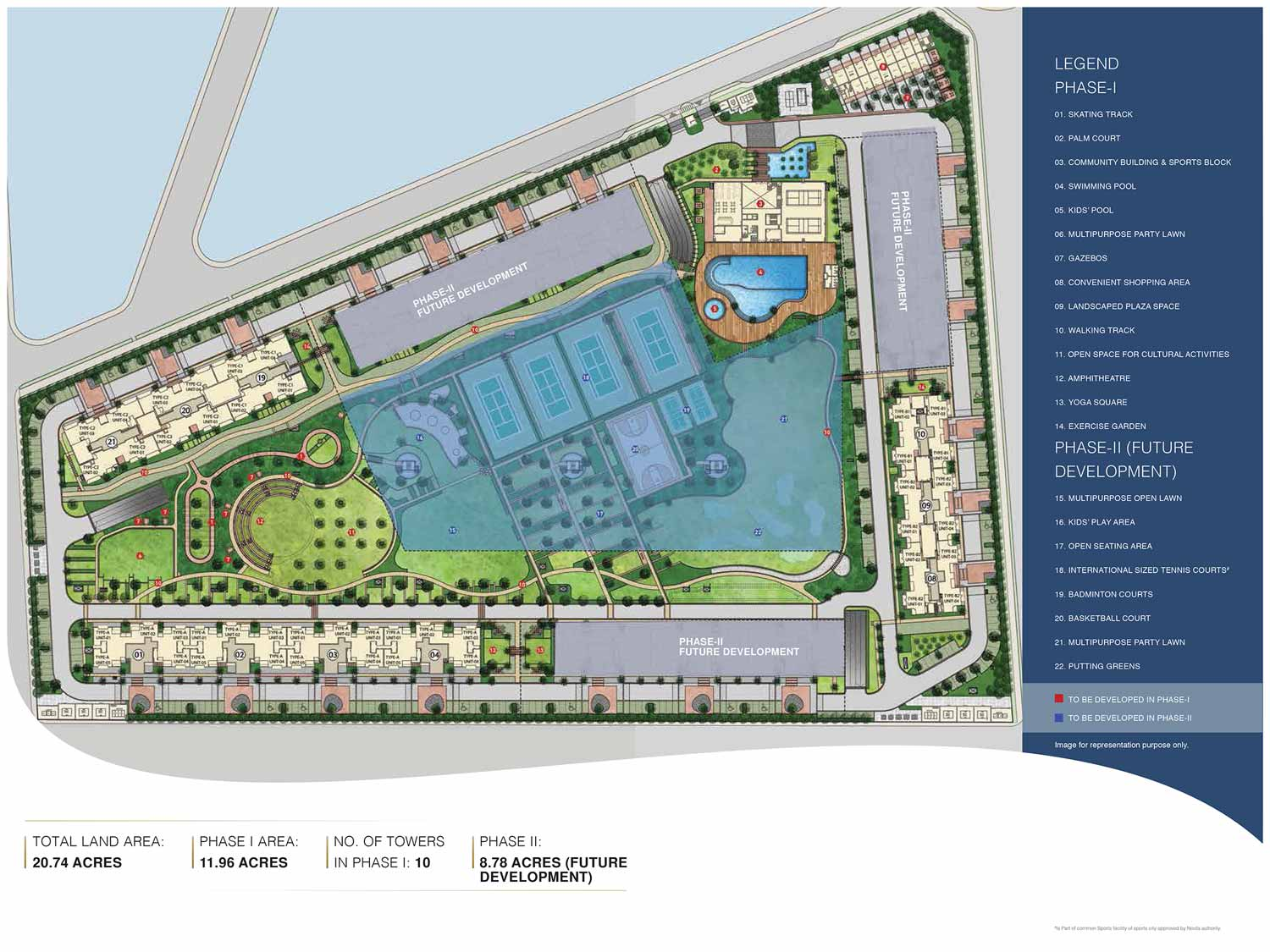 Site plan tata eureka park noida for Home site plan